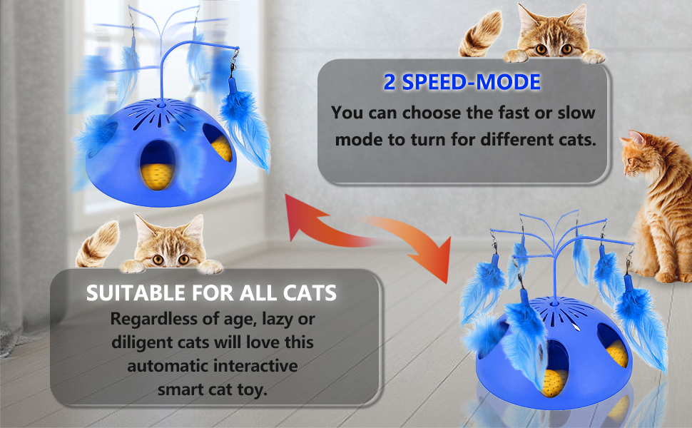 Interactive Cat Toys 2 Speed Mode