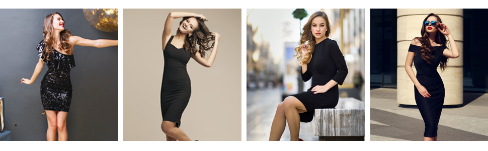 MD Damen Figurformendes Miederkleid Tr/ägerloses Body Shape Kleid Shapewear Unterrock SchwarzL