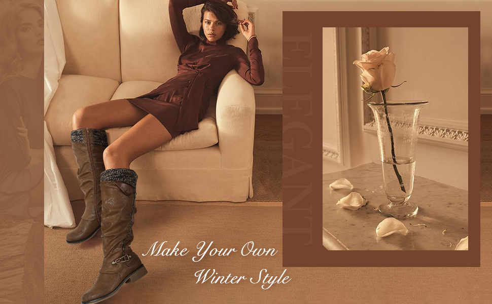 Autumn Winter Warm Over Knee High Boots Zip Low Flat Heel Long Boots Girls Casual Soft Shoes