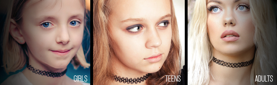 Chokers for Girls, teens and adults