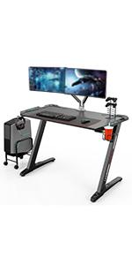 Eureka Ergonomic Z1-S Gaming Desk - Mesa de juegos para ...