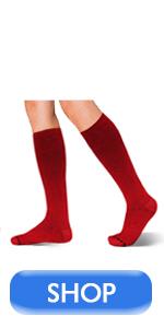 Dress compression socks red