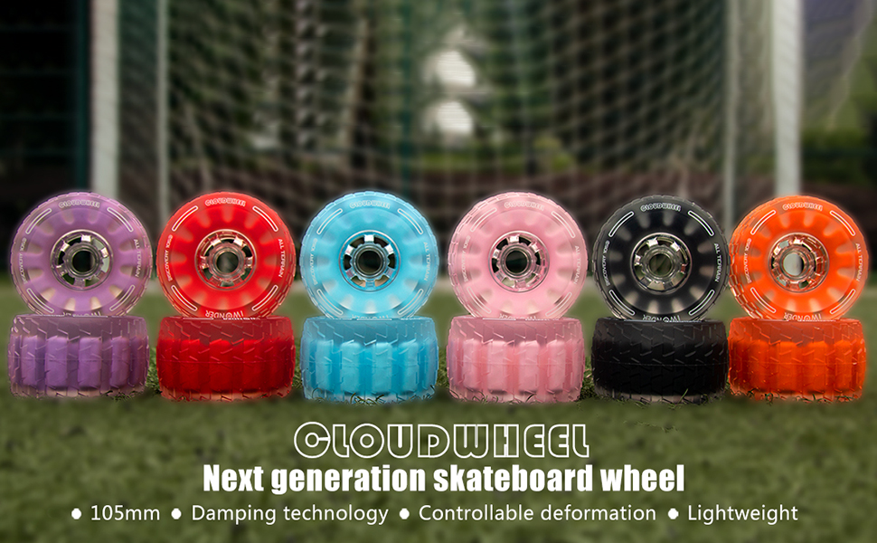 damping foam core 105mm skateboard wheels