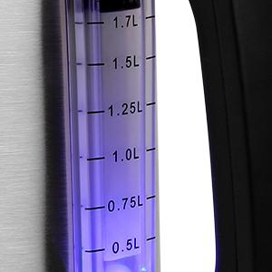 L'indiquateur à LED et la fenêtre de niveau d'eau