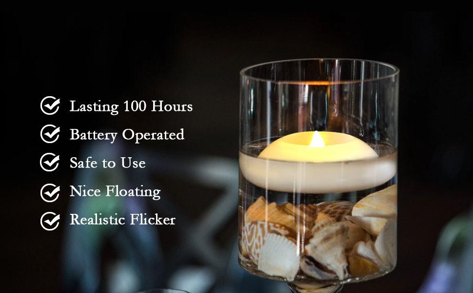 Floating wax led tealight
