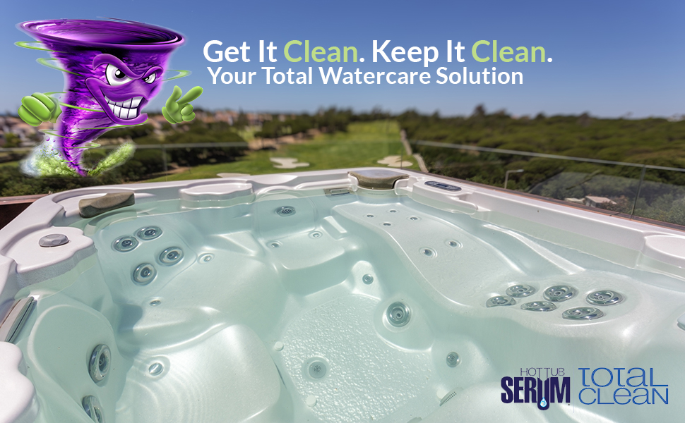 Serum Watercare Total Maintenance cleaner conditioner clarifier hot tub spas therapeutic therapy