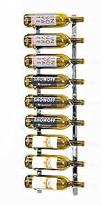 W Series, Wall Mounted Wine Rack, Metal Wine Rack