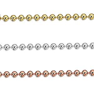 ioielli - Collanina - Catenina Argento Sterling 925 - Modello Sfere - Larghezza 2 mm