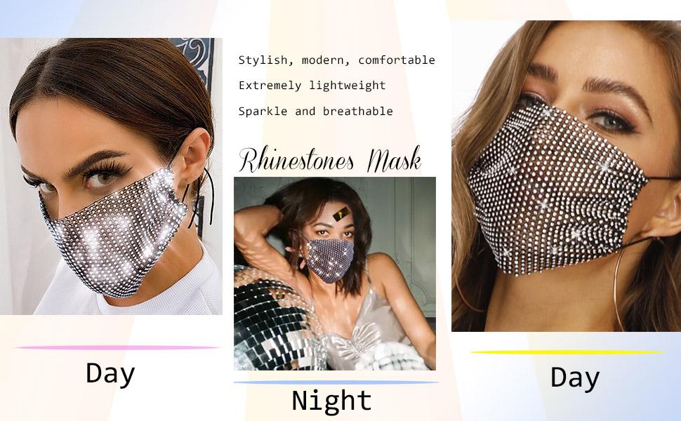 rhinestone mask