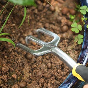 Cultivator hand rake