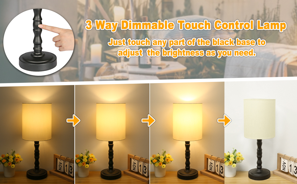 Touch control table lamp