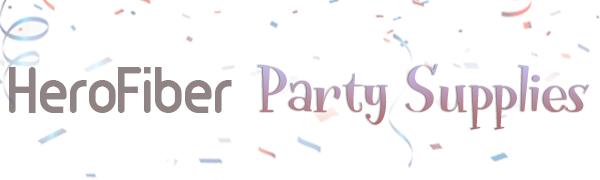 Herofiber party supplies