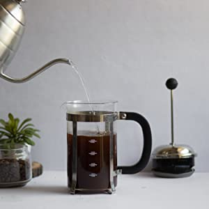 InstaCuppa French Press Coffee Maker How To Use Step 2