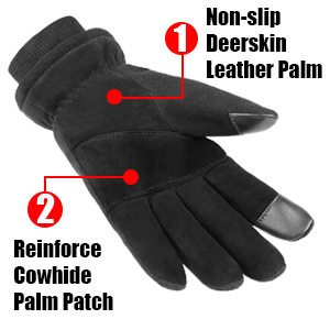 with leather palm for grip