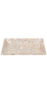 10x6 Grey-white Towel Tray