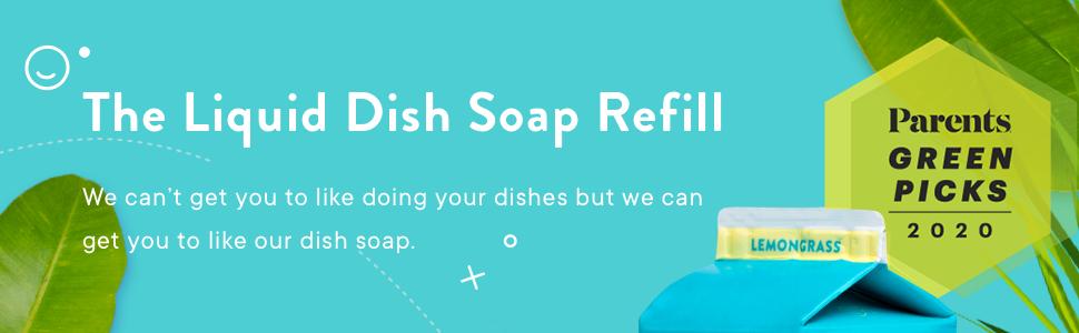 Liquid Dish Soap, Refill, Refillable
