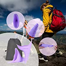 Silicone portable Female Urinal Lets You Pee Standing Up Reusable Women Travel Festivals Camping