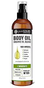 pureSCRUBS Lemongrass Body Oil