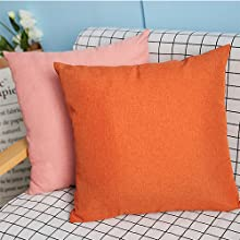 Classic Solid Orange Large Pillow Cushion Water patio set  water resistant