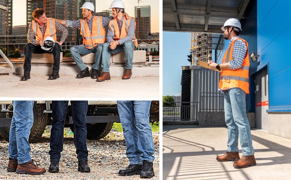 NORTIV 8 MEN STEEL TOE WORK BOOTS