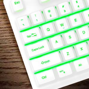 104 Keys Standard Keyboard.