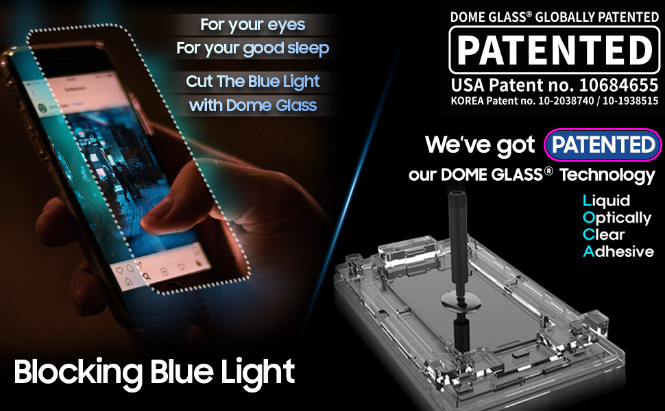 blue light cut and patented