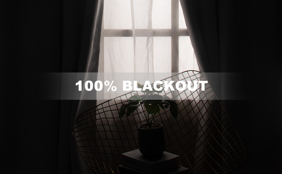 100% blackout curtains for bedroom