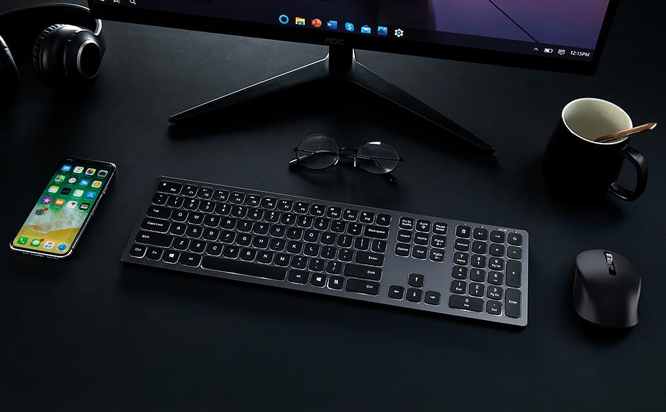 backlit wireless keyboard