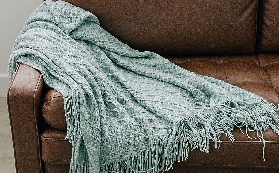 Fringe Throw Blanket Soft Blankets Cozy Blanket Throw Blankets Blanket ivory nice Blankets 6080