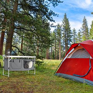 Relaxdays Campingtisch Mesa Plegable, Altura Regulable ...
