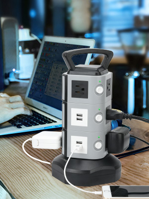 Surge Protector Tower Outlets