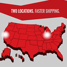 multiple shipping locations for faster shipping