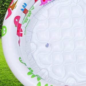 Owme Inflatable Kids Bath Tub-3 feet Baby Water Kiddie Pool with Pump Dinosaur Design