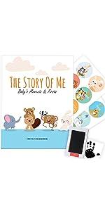 Baby memory book for newborn scrapbook album