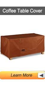 Coffee table cover patio