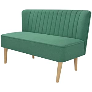 Sofa 2-Sitzer-Sofa 2-Sitzer Couch Loungesofa Wohnzimmersofa Stoffpolsterung Holzrahmen