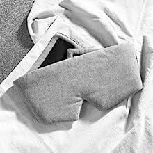 Grey Cotton Sleep Mask