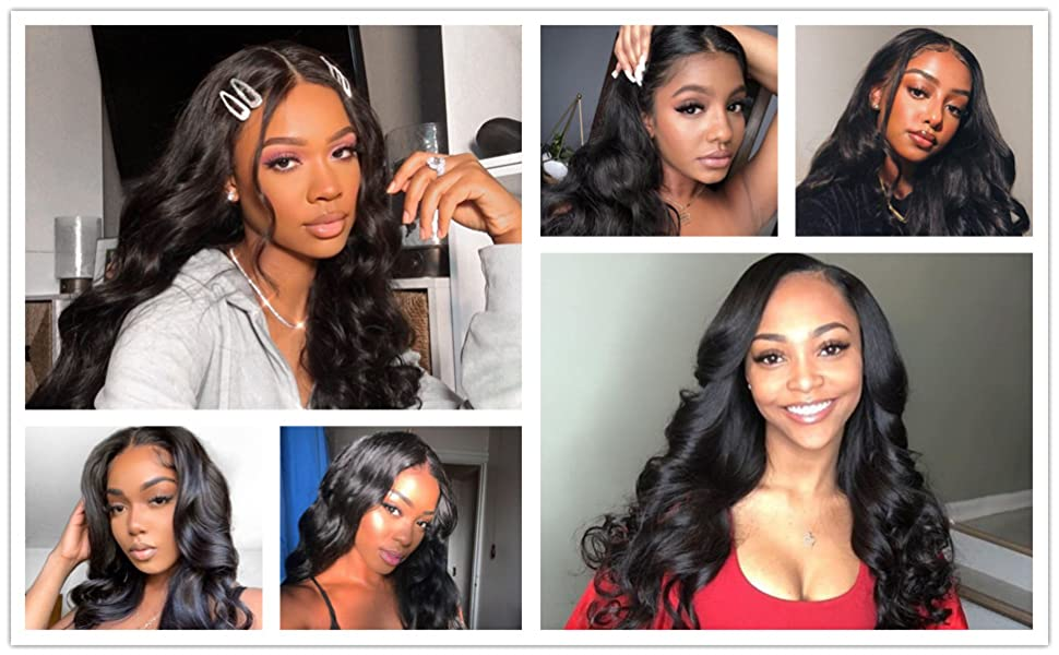 4X4 Body Wave Lace Closure Wig