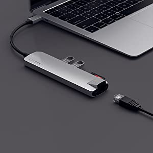Satechi adattatore multiporta slim USB-C con Ethernet