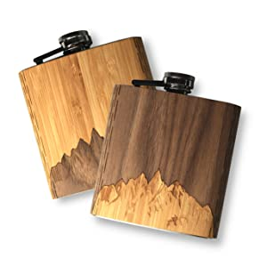 Real Wooden Flask, wooden hip flask, flask for men, made in USA