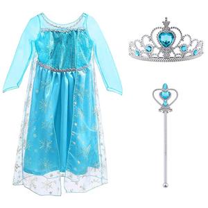 Vicloon - Disfraz de Princesa Elsa/Capa Disfraces/Belle Vestido y Accesorios para Niñas- Reino de Hielo - para Carnaval,Cosplay,Navidad,Fiesta de ...