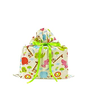 baby shower gift bag, baby gift bag, animals, jungle gift wrap