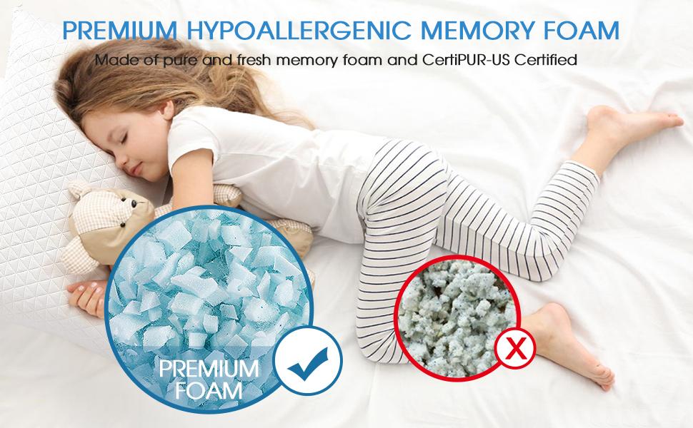 premium hypoallergenic memory foam