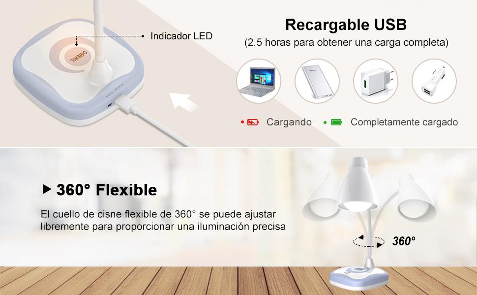 Lámpara LED Escritorio