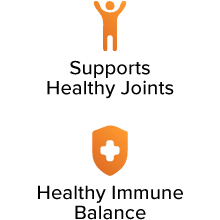 Supports Healthy Joints. Healthy Immune Balance.