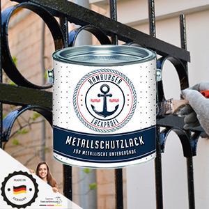 Metallschutzlack GlÄnzend Rot Feuerrot Ral 3000 Metallschutzfarbe Metalllack Metallfarbe Hamburger Lack Profi 2 5 L Baumarkt