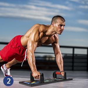 GOAMZ Tabla de Flexiones 12 en 1 Gym Fitness System para Entrenamiento Corporal Push-up Board para Entrenamientos