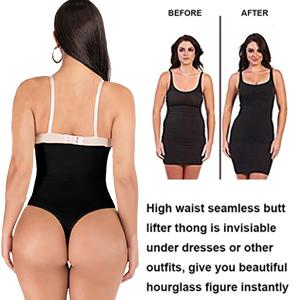 high waist shapewear tummy control thong panty
