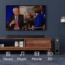 3D surround soundbar