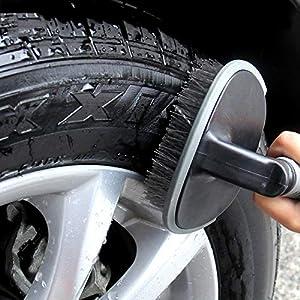 Sisenny 2PCS Wheel /& Tire Brush Kit Easy Reach Wheel Rim Detailing Brush Car Motorcycle Bicycle Wheel Cleaning Brush Washing Tool